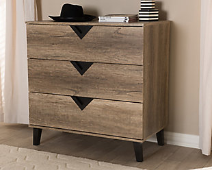 3 Drawer Wood Chest, , rollover