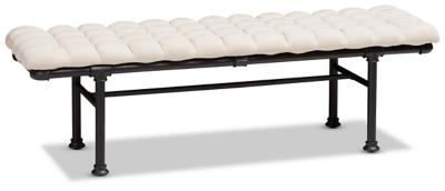 Zelie Fabric Upholstered Bench, , large