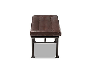 Zelie Faux Leather Upholstered Bench, , large