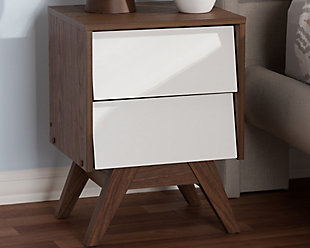 Hildon 2-Drawer Storage Nightstand, , rollover
