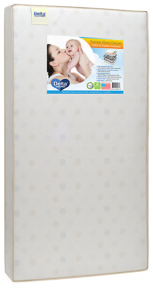 Delta Children Twinkle Stars Deluxe Crib and Toddler Mattress, , rollover