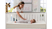 Delta Children Twinkle Stars Deluxe Crib and Toddler Mattress, , rollover