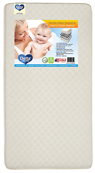 Delta Children Twinkle Stars Supreme Crib and Toddler Mattress, , large