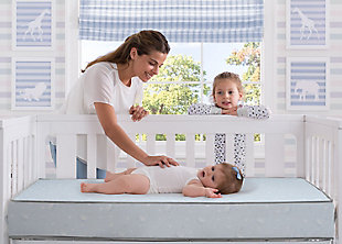Delta Children Serta SLEEPTRUE Sweet Moon Crib and Toddler Mattress, , rollover
