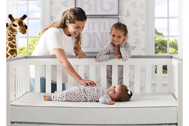Delta Children Serta Perfect Sleeper Calm Days Crib and Toddler Mattress, , large