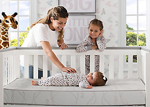 Delta Children Serta Perfect Sleeper Calm Days Crib and Toddler Mattress, , rollover