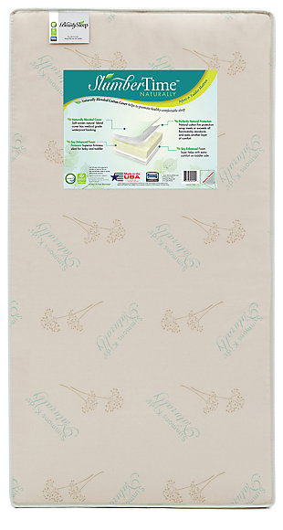 Delta Children Beautyrest SlumberTime Naturally Crib and Toddler Mattress, , rollover