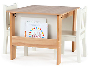 Kids Bookrack Table and Two Chairs Set, , large
