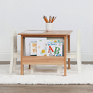 Kids Bookrack Table and Two Chairs Set, , rollover
