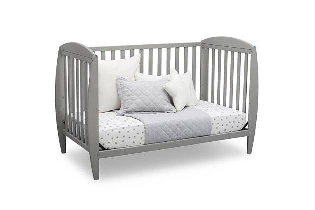 Delta Children Taylor 4-in-1 Convertible Baby Crib, Gray, large