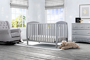 Delta Children Taylor 4-in-1 Convertible Baby Crib, Gray, rollover