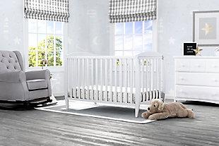 Delta Children Taylor 4-in-1 Convertible Baby Crib, White, rollover