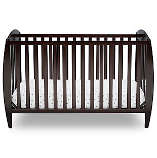Delta Children Taylor 4-in-1 Convertible Baby Crib, Dark Chocolate, large