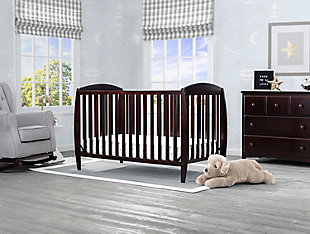Delta Children Taylor 4-in-1 Convertible Baby Crib, Dark Chocolate, rollover