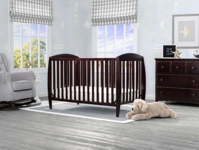 Delta Children Taylor 4-in-1 Convertible Baby Crib, Dark Chocolate, large