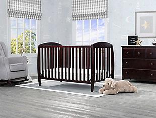 Delta Children Taylor 4-in-1 Convertible Baby Crib, Dark Chocolate, rollover