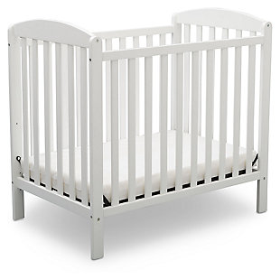 Delta Children Mini Baby Crib with Mattress, , large