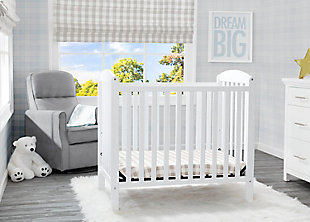 Delta Children Mini Baby Crib with Mattress, , rollover