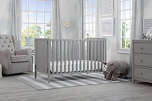 Delta Children Heartland Classic 4-in-1 Convertible Baby Crib, Gray, rollover