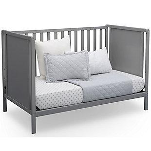 Delta Children Heartland Classic 4-in-1 Convertible Baby Crib, Gray, large