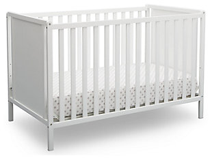 Delta Children Heartland Classic 4-in-1 Convertible Baby Crib, White, large