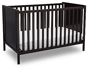 Delta Children Heartland Classic 4-in-1 Convertible Baby Crib, Dark Chocolate, large