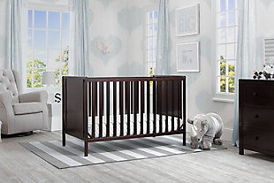 Delta Children Heartland Classic 4-in-1 Convertible Baby Crib, Dark Chocolate, rollover