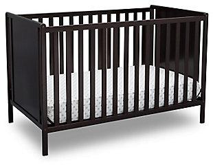 Delta Children Heartland Classic 4-in-1 Convertible Baby Crib, Dark Chocolate, large