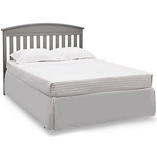 Delta Children Abby Convertible Baby Crib N Changer, Gray, large