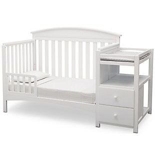 Delta Children Abby Convertible Baby Crib N Changer, White, large