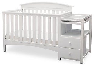 Delta Children Abby Convertible Baby Crib N Changer Set, , large