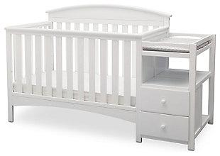 Delta Children Abby Convertible Baby Crib N Changer, White, large