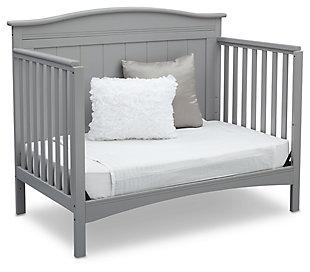 Delta Children Bennett 4-in-1 Convertible Crib, Gray, rollover