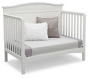 Delta Children Bennett 4-in-1 Convertible Crib, White, rollover