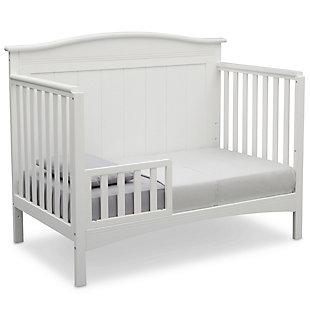 Delta Children Bennett 4-in-1 Convertible Crib, White, large