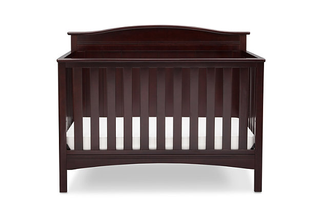 Delta Children Bennett 4-in-1 Convertible Crib, Dark Chocolate, large