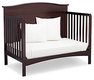 Delta Children Bennett 4-in-1 Convertible Crib, Dark Chocolate, rollover