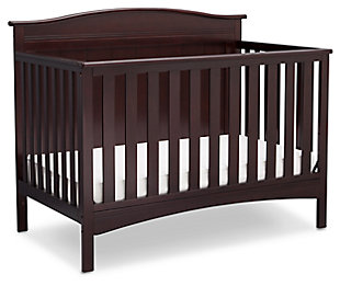 Delta Children Bennett 4-in-1 Convertible Crib, Dark Chocolate, large