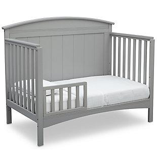 Delta Children Archer 4-in-1 Convertible Crib, Gray, large