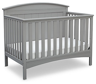 Delta Children Archer 4-in-1 Convertible Crib, Gray, large