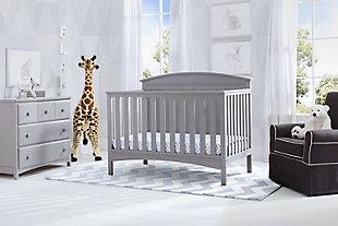 Delta Children Archer 4-in-1 Convertible Crib, Gray, rollover