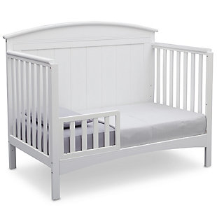 Delta Children Archer 4-in-1 Convertible Crib, White, large