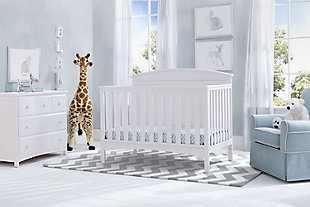 Delta Children Archer 4-in-1 Convertible Crib, White, rollover