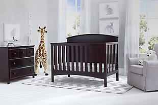 Delta Children Archer 4-in-1 Convertible Crib, Dark Chocolate, large