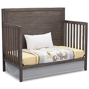 Delta Children Cambridge 4-in-1 Convertible Crib, Rustic Gray, large
