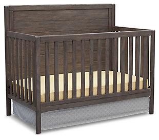 Delta Children Cambridge 4-in-1 Convertible Crib, Rustic Gray, large