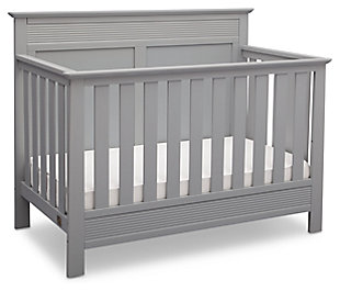 Delta Children Serta Fall River 4-in-1 Convertible Crib, Gray, large