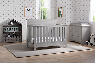 Delta Children Serta Fall River 4-in-1 Convertible Crib, Gray, rollover