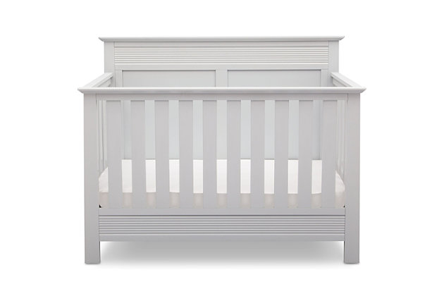 Delta Children Serta Fall River 4-in-1 Convertible Crib, White, large