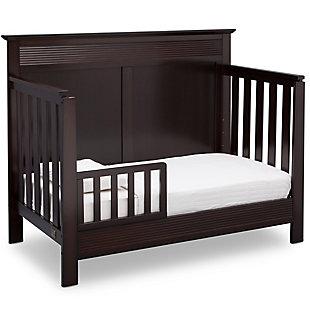 Delta Children Serta Fall River 4-in-1 Convertible Crib, Dark Chocolate, large